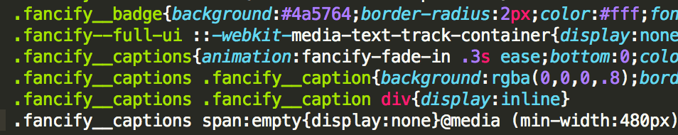 Fancify CSS code